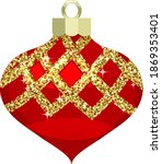 vintage red christmas ornament...