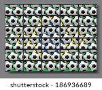 brazil 2014 and lot of flat tv | Shutterstock . vector #186936689
