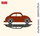vector illustration of a car in ... | Shutterstock .eps vector #1869413914