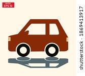 vector illustration of a car in ... | Shutterstock .eps vector #1869413917