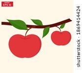 vector illustration of apple... | Shutterstock .eps vector #1869414424