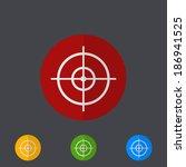 vector modern circle icons set...