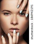make up   cosmetics  manicure.... | Shutterstock . vector #186942191