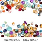 colorful gems on white... | Shutterstock . vector #186943667