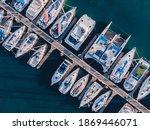 Boats Docked On A Marina