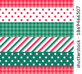 red and green elements striped... | Shutterstock .eps vector #1869466507