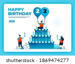 22th birthday vector...