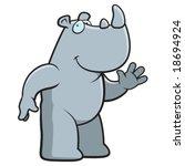 rhino waving | Shutterstock .eps vector #18694924