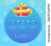 giveaway steps for social media ...   Shutterstock .eps vector #1869516994