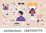 big collection of trendy... | Shutterstock .eps vector #1869544774