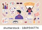 big collection of trendy... | Shutterstock .eps vector #1869544774