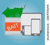 business fishing concept ... | Shutterstock .eps vector #186954644
