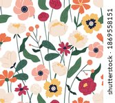 colorful floral seamless...   Shutterstock .eps vector #1869558151