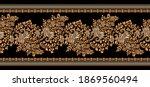 seamless vector floral border... | Shutterstock .eps vector #1869560494
