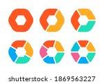pie chart set. modern diagram... | Shutterstock . vector #1869563227