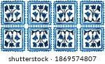 tribal seamless indigo... | Shutterstock . vector #1869574807