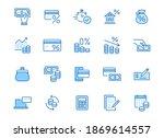 money loan line icon set....   Shutterstock .eps vector #1869614557