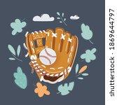 vector cartoon illustration of... | Shutterstock .eps vector #1869644797