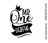 mr. one derful   funny phrase... | Shutterstock .eps vector #1869649144