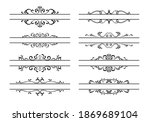 set of ornamental filigree... | Shutterstock .eps vector #1869689104
