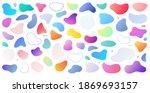 abstract liquid shape. set of... | Shutterstock .eps vector #1869693157