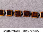 Stand Of Square Brown Beads For ...