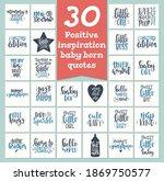 baby born set motivational... | Shutterstock .eps vector #1869750577