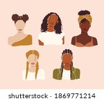 vector abstract woman portraits.... | Shutterstock .eps vector #1869771214