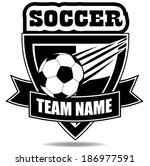 soccer badge icon symbol eps 10 ... | Shutterstock .eps vector #186977591