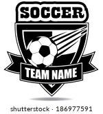 soccer badge icon symbol eps 10 ... | Shutterstock .eps vector #186977591