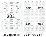 calendar 2021  2022  2023  2024 ... | Shutterstock .eps vector #1869777157