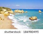 rocky southcoast near lagos... | Shutterstock . vector #186980495