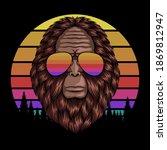 Bigfoot Head Eyeglasses Sunset...