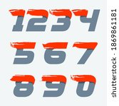 fast speed numbes set with red... | Shutterstock .eps vector #1869861181