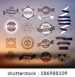 premium and high quality label  ... | Shutterstock . vector #186988109