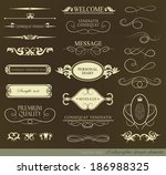 calligraphic design elements... | Shutterstock . vector #186988325