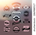 premium and high quality label  ... | Shutterstock . vector #186988517