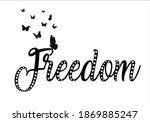 freedom design  with diamond... | Shutterstock .eps vector #1869885247