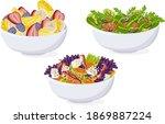bowl fruit  vegetable salad.... | Shutterstock .eps vector #1869887224