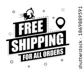 free shipping on a white... | Shutterstock .eps vector #1869889591