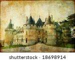 Chaumont castle - vintage picture - stock photo