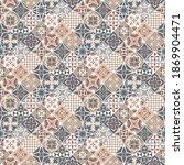 tuscany style tiles vector... | Shutterstock .eps vector #1869904471