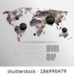 world map background in... | Shutterstock . vector #186990479