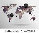 world map background in... | Shutterstock . vector #186991061