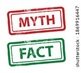 myth and fact concept  green... | Shutterstock .eps vector #1869916447