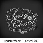 open and closed vintage retro... | Shutterstock . vector #186991907