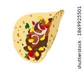 tacos vector stock illustration.... | Shutterstock .eps vector #1869925501