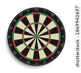 realistic dart board isolated... | Shutterstock .eps vector #1869942697