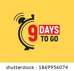 9 days to go last countdown... | Shutterstock .eps vector #1869956074