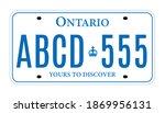 Ontario Canada car license plate registration vector design template